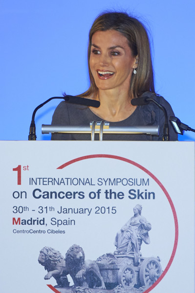 Queen Letizia of Spain attends 'The I Skin Cancer Symposium' at the Palacio de Cibeles
