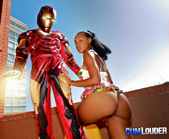 Iron Dick xxx interracial parody