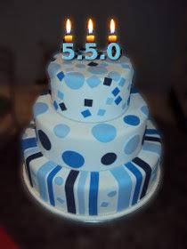 bolo de comemoração do lançamento do PHP 5.5.0