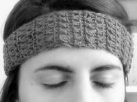 Banda para el pelo a crochet - Ahuyama Crochet