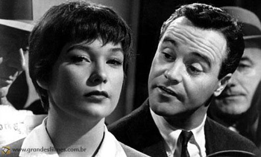 Shirley MacLayne e Jack Lemmon em Se Meu Apartamento Falasse, de Billy Wilder