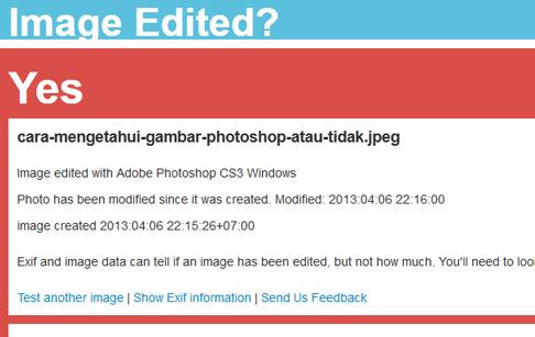 Cara mengetahui suatu gambar editan photoshop atau tidak