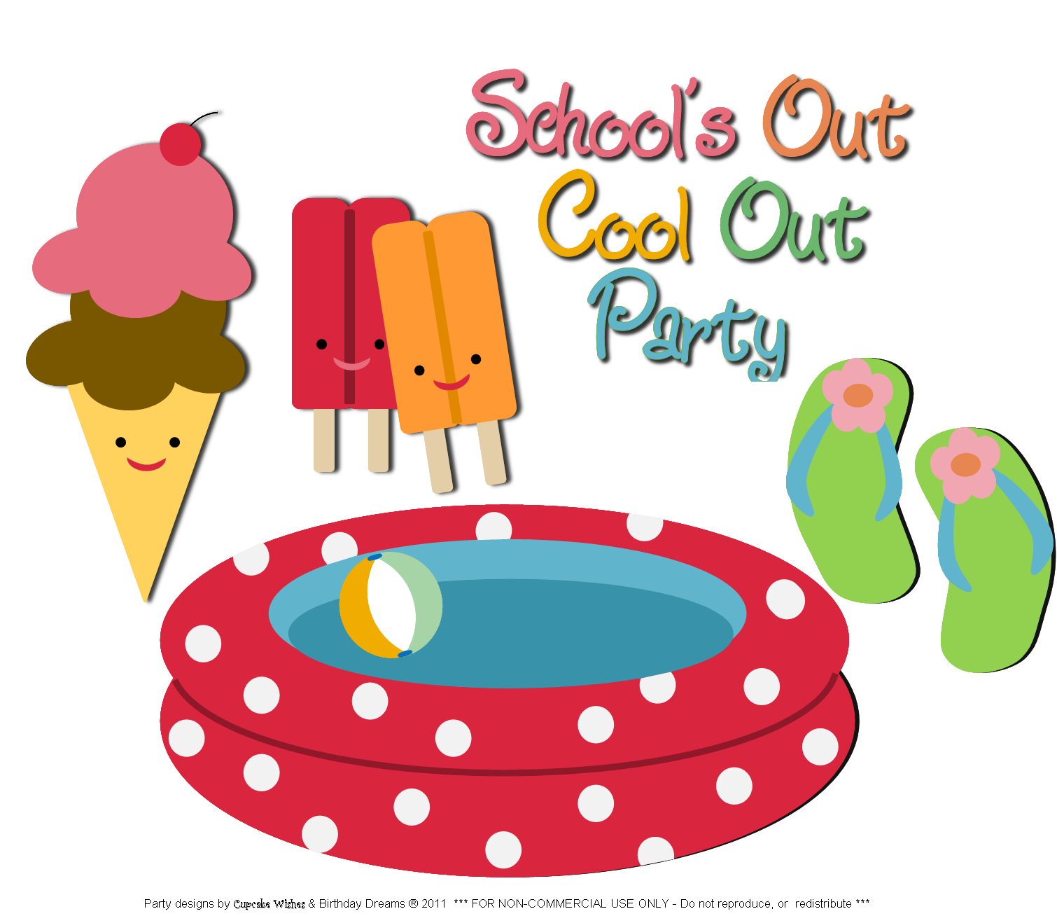 Schools Out Clip Art for Summer – Clipart Download