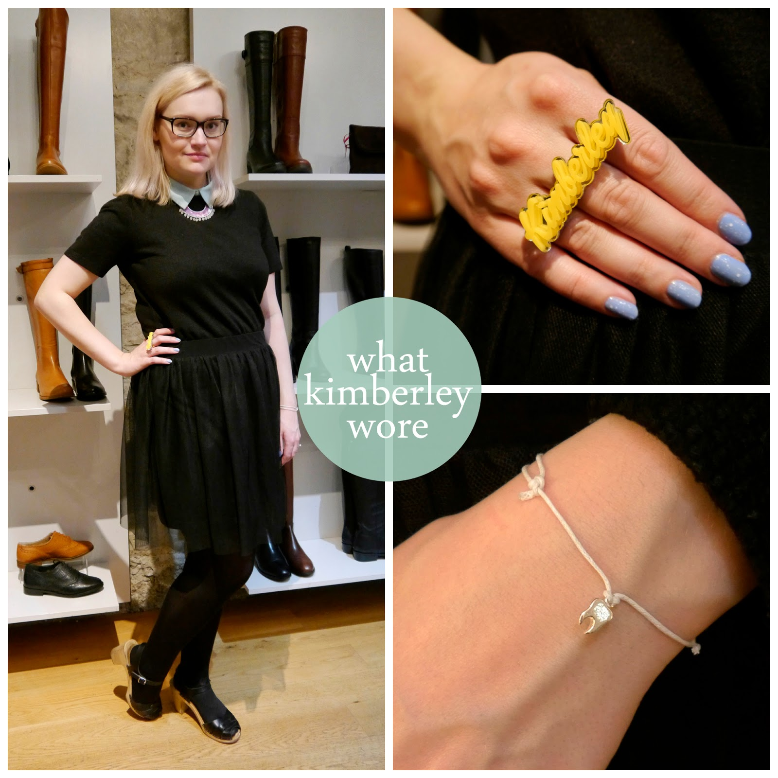 What Kimberley Wore, Duo blogger event Edinburgh, Duo boot tribe, Bonnie Bling name ring, name ring, Bloody Mary Metal