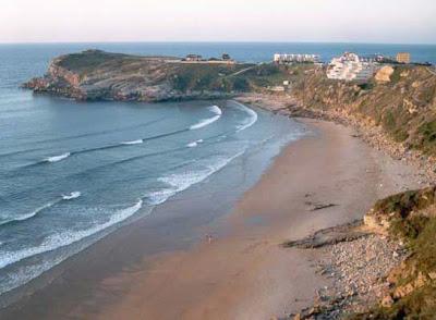 La playa de los Locos en Suances, Cantabria