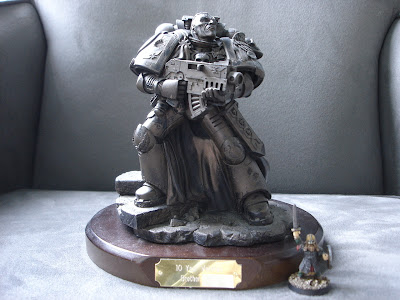 Trofeo por 10 años de pertenencia en Games Workshop