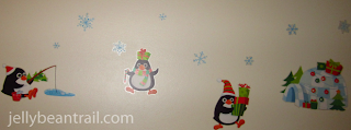 Penguin wasll art for the holidays