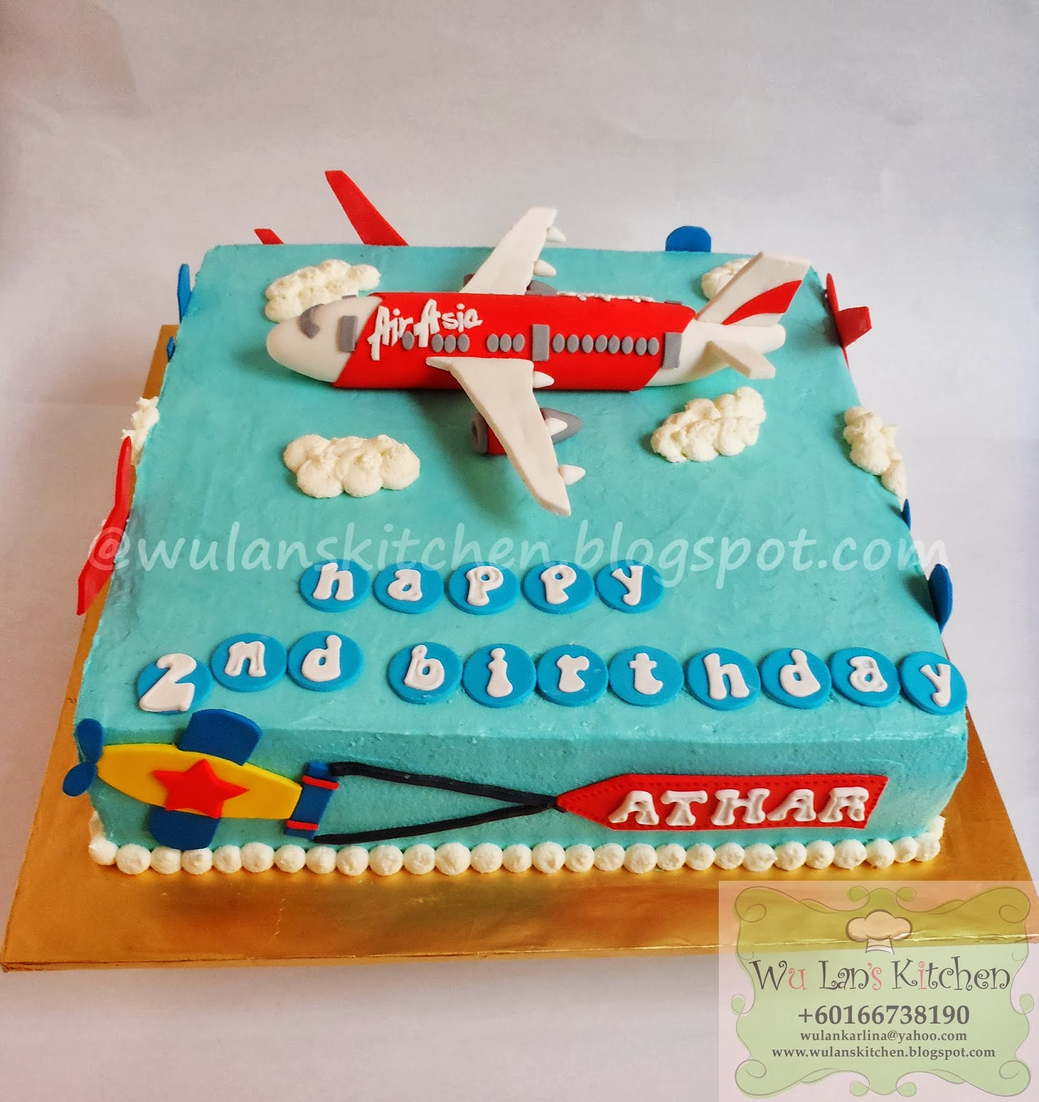 Wu Lans Kitchen RAINBOW CAKE WITH AIRPLANE THEME