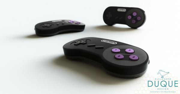 請想像:過去數十年來,電玩科技始終沒有進步,直到2013年,一個名為任天堂的新創公司發表了一款全新的遊戲主機:超級任天堂…設計師Alejandro Duque將任天堂的早期經典超級任天堂重新設計,讓它有了更現代的靈魂。Duque捨棄了超任淡色系的色調,採用更為大膽的黑色與紫色做為搭配。少了卡夾,反而多了一個USB插口,讓你可以直接讀取下載好的遊戲。