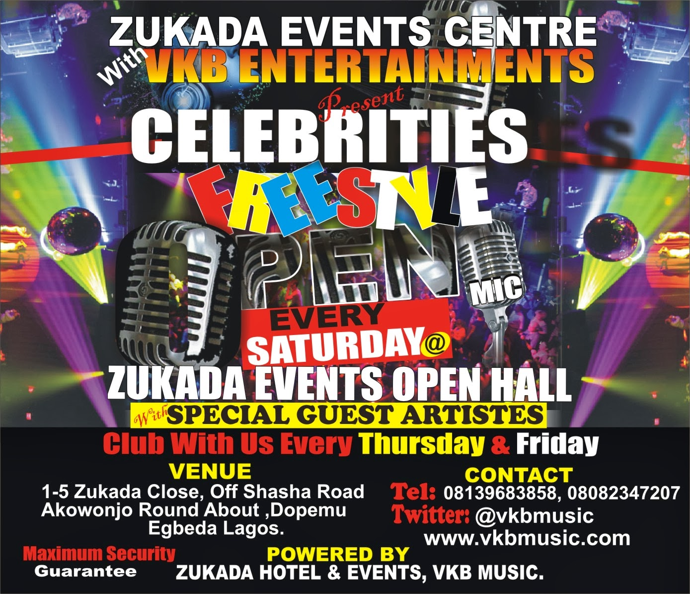 VKB ENTERTAINMENT PRESENT CELEBRITIES FREESTYLE OPEN MIC SHOW [HOSTING PLATFORM FOR CELEBRITIES].