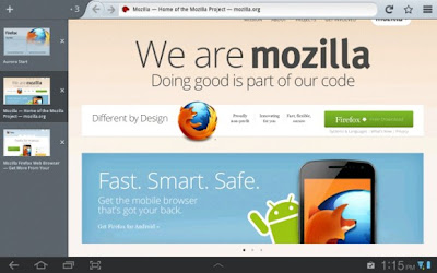 Mozilla Firefox v15 for Android