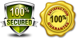 100% Guarantee and Secured