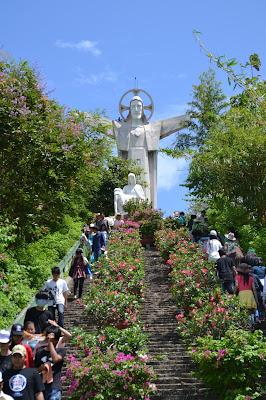 Jesus statue on top of Small Mountain , Jesus statue on top of Small Mountain Vung tau