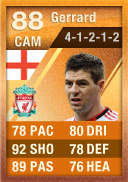 Steven Gerrard (IF2) 88 - FIFA 12 Ultimate Team Card - Orange MOTM