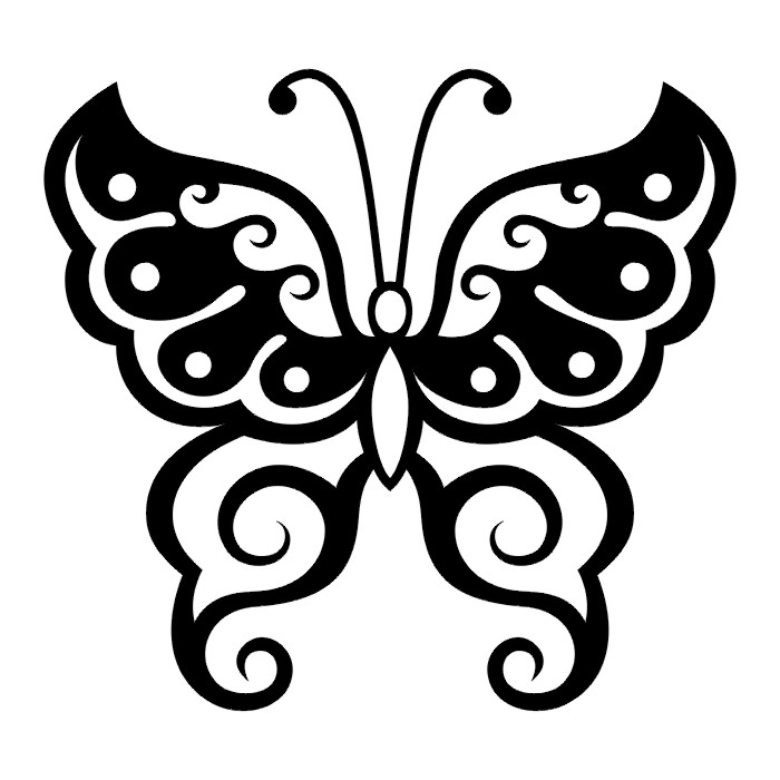 tattoos butterfly tattoo stencils. Black Bedroom Furniture Sets. Home Design Ideas