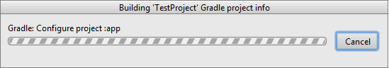 Android Studio - Create Project Progress Dialog
