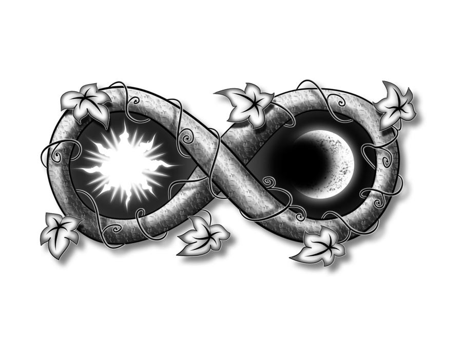 Tattoo de simbolo do infinito com nomes - Studio Tatuando
