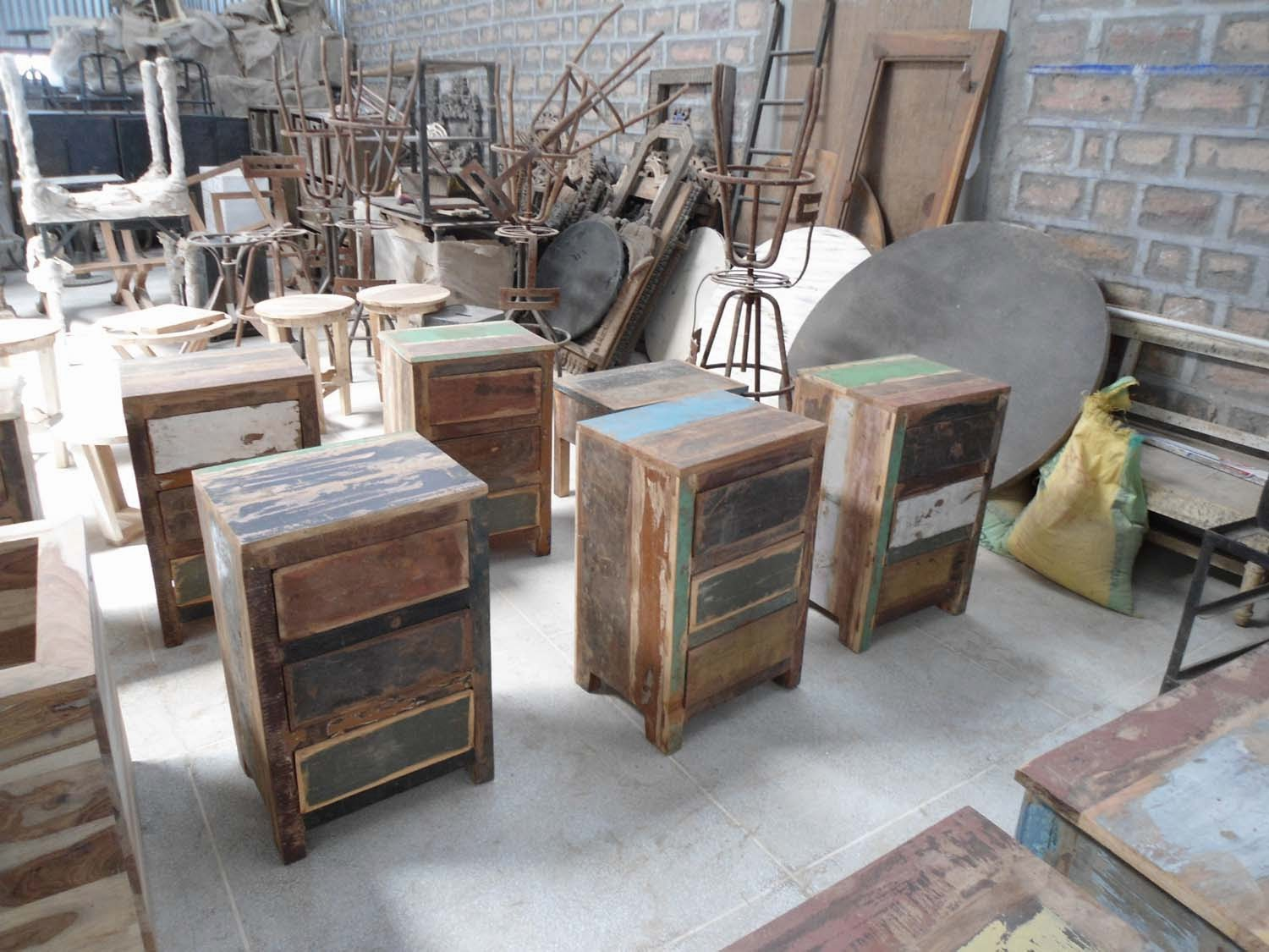 Indian furniture recycle wood from jodhpur