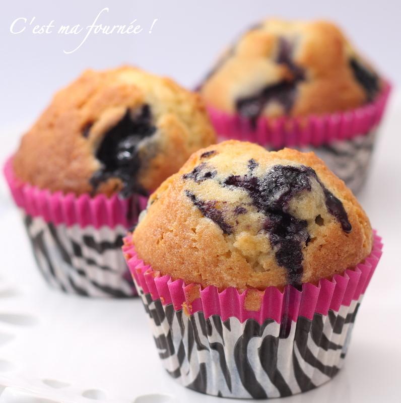 Ze muffins aux myrtilles