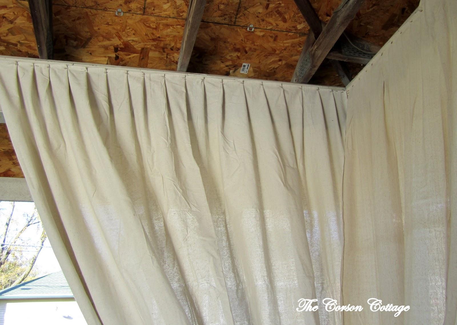 the corson cottage canvas painters cloth event draperies