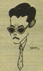 Caricatura del ajedrecista Antonio Medina