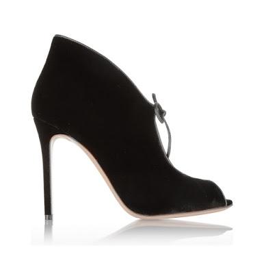 Gianvito Rossi black Velvet Stiletto Ankle Boots