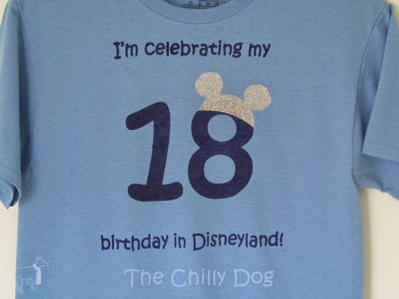 Disneyland birthday shirt