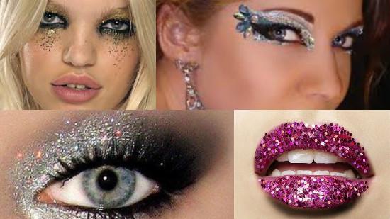 maquiagem glitter brilho