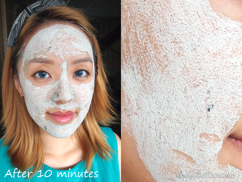 GlamGlow Youthmud Tinglexfoliate Treatment after 10 minutes