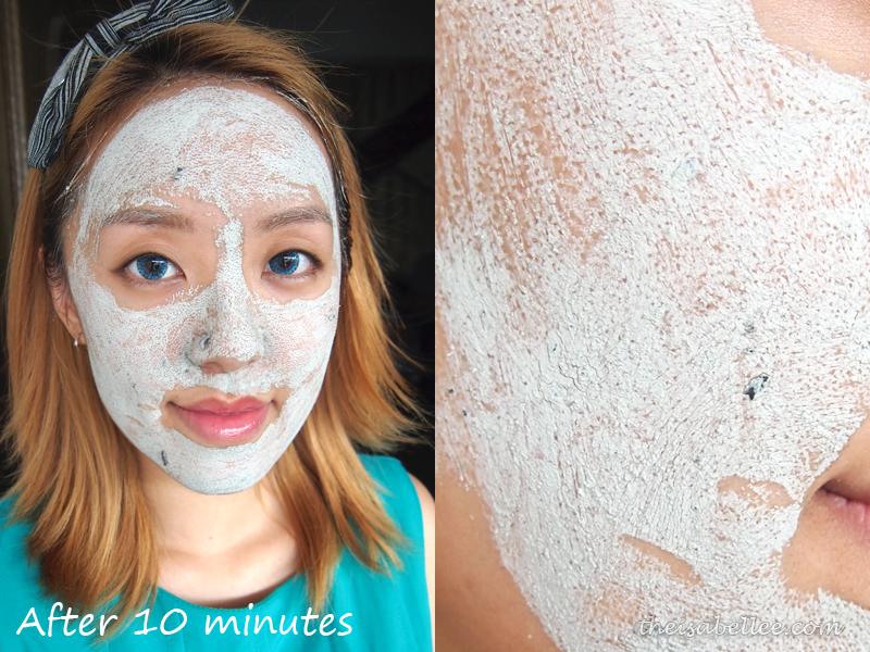 GlamGlow Youthmud Tinglexfoliate Treatment after 10 minutes