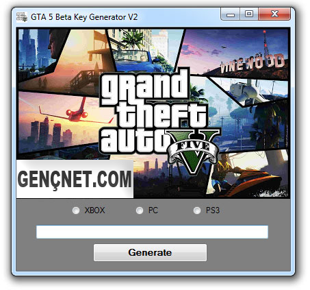 GTA 5 Kilit Açma Kodu - GTA V Beta Key Generator v2 - Serial Unlock Code