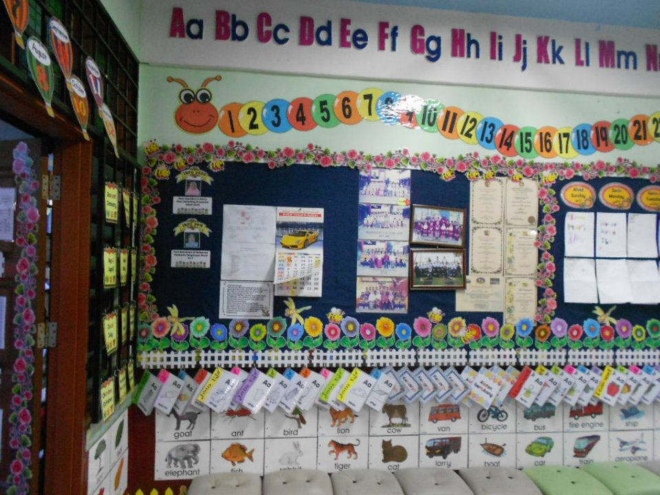 Hiasan dalam kelas tadika for Mural untuk kanak kanak