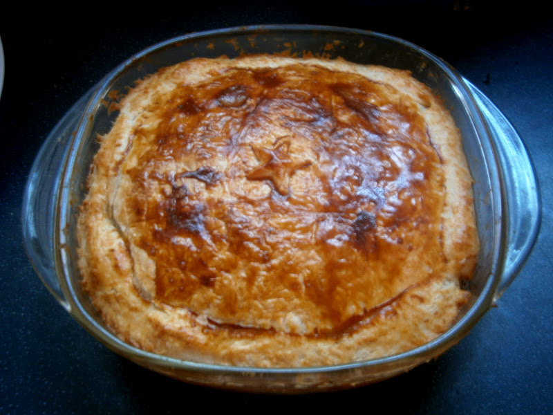 how to cook puff pastry for a pie