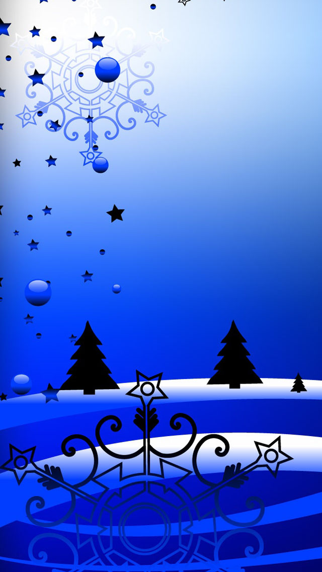 Blue Christmas iPhone 5/5s Wallpaper HD