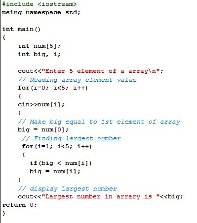 how to use array in c