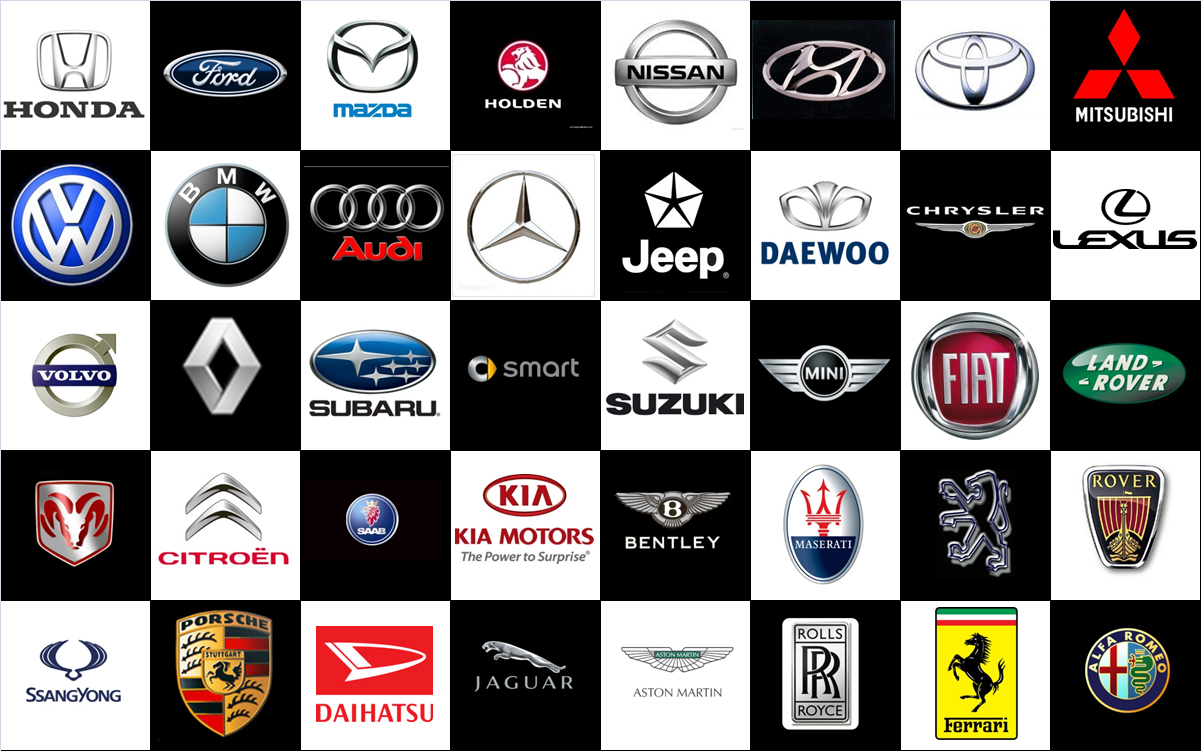 Car Brand Logos with Names
