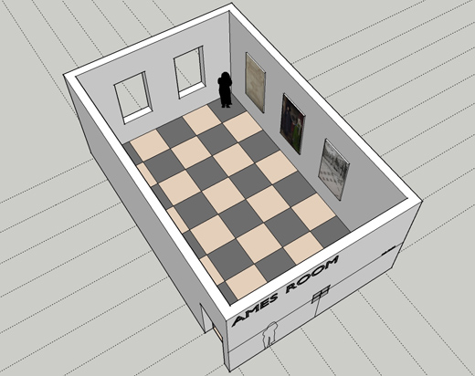 Perspective Resources: How to construct an Ames room