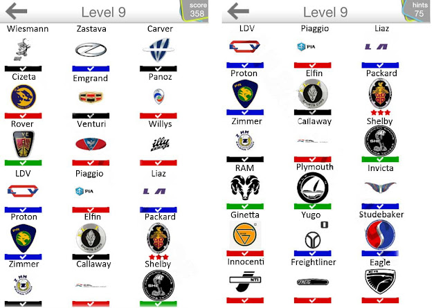 Logo Quiz Cars Answers Level 9