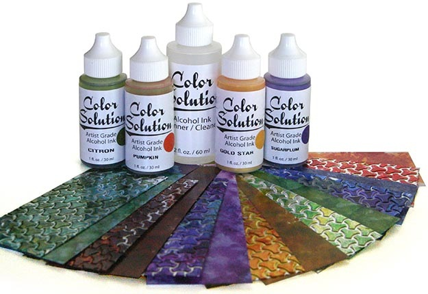 MercArt: The Metal Embosser: Alcohol Inks and Color Aluminum