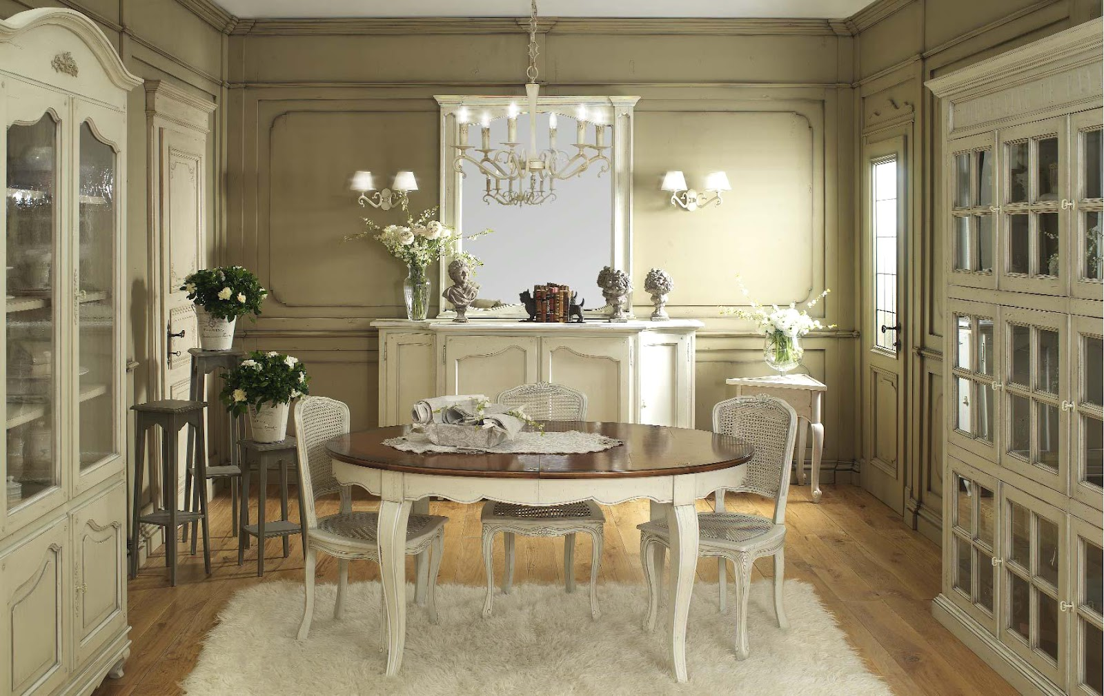 Shabby Chic French Country Dining Room Tables