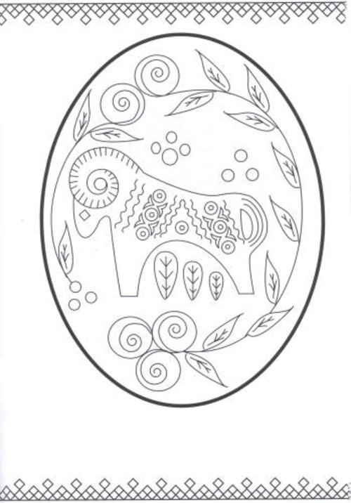 ukraine eggs coloring pages - photo#8