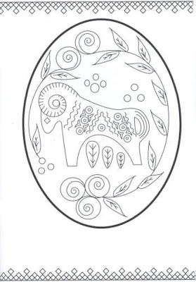 Ukrainian Easter Egg Coloring Pages