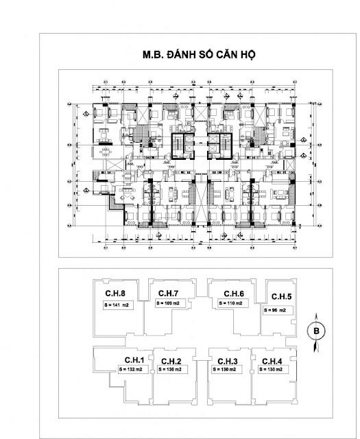 Mặt bằng căn hộ tòa tòa nhà N01-T2 chung cư Ngoại Giao Đoàn, Tây Hồ, HN