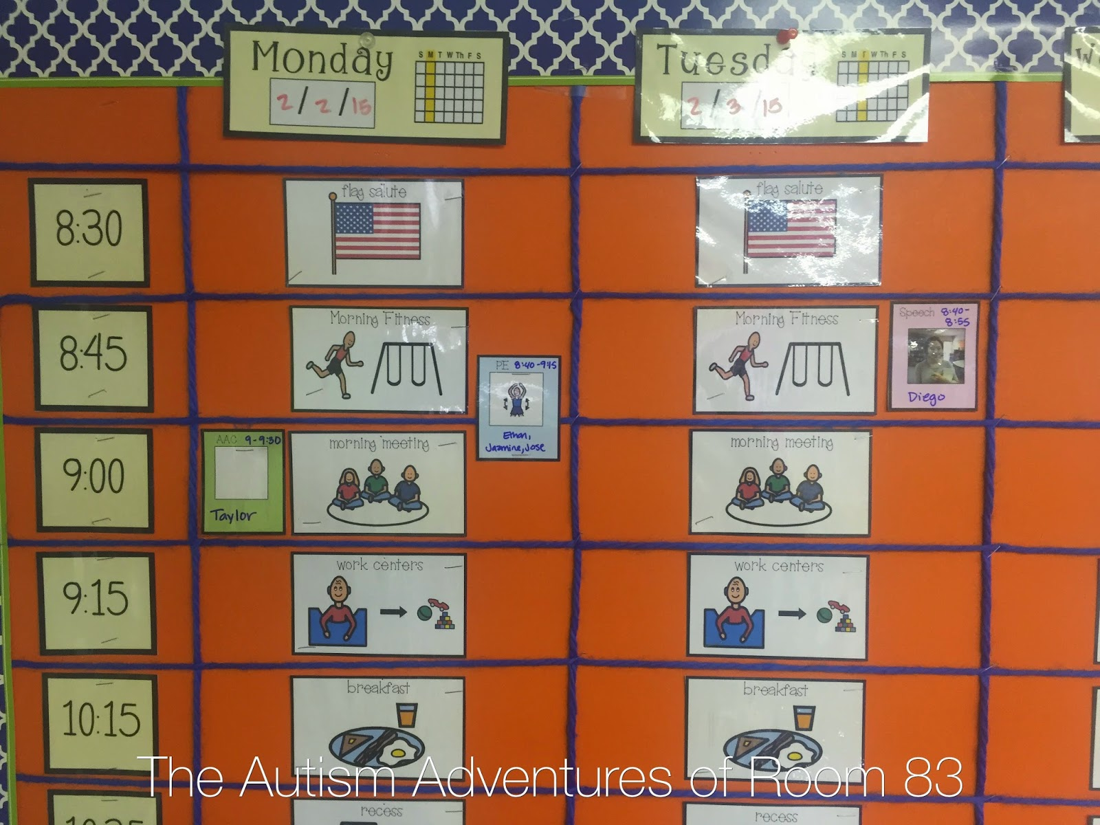 how to make a visual schedule for autism