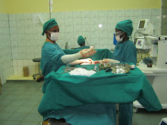 Dr Mateus in the operating room