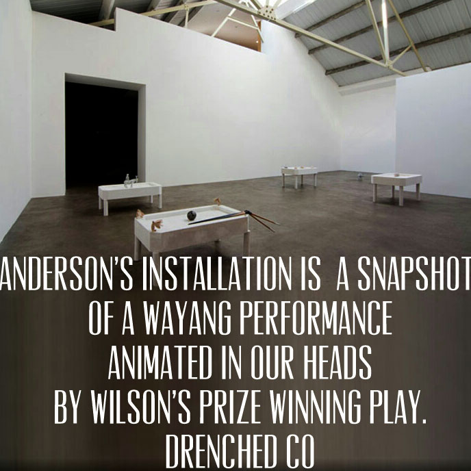 Image of mother's tankstation  with exhibition Review by Drenched Co