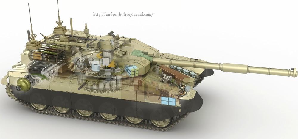 Устройство танка т-90