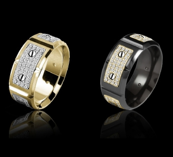 there are so many complexities in human relationships today that the design for a piece of jewelry that can serve a number of purposes is a valuable - Gay Mens Wedding Rings
