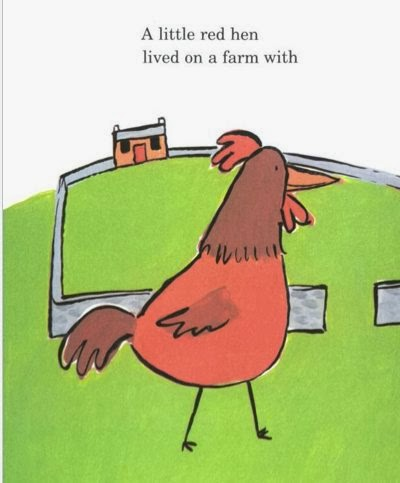 sample page #1 from Little Red Hen by Harriet Ziefert