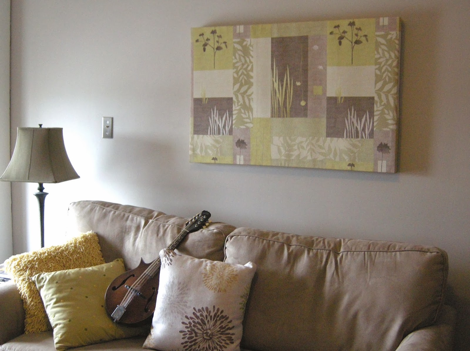 Designing Home: stretched fabric art DIY